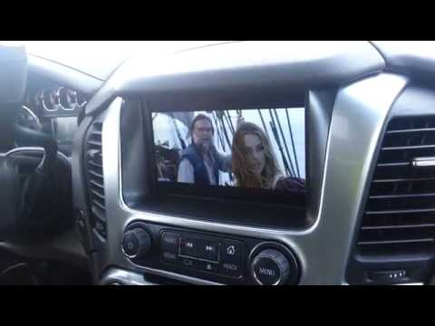 2015 Chevy Tahoe In Dash and Ceiling Mounted BD and DVD Player