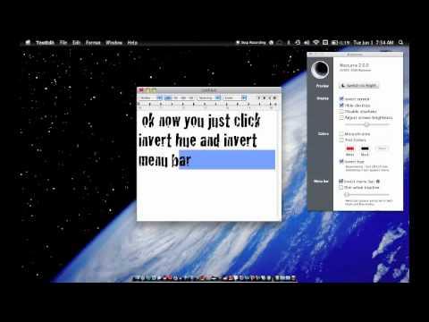 Black menu bar tutorial