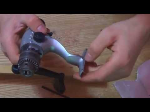 HOW TO MAKE Mini hand-drill from fixed-spool reel