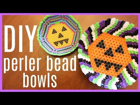 DIY Perler Bead Bowl Perfect for Halloween Candy!