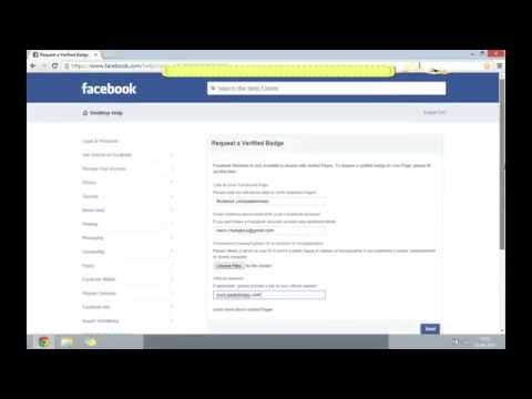 Get Your Facebook Page/Profile Verified