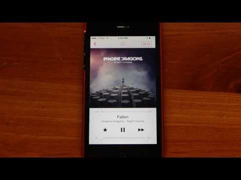 iTunes Radio for iPhone Demo iOS 7