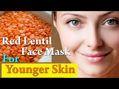 Red Lentil (Masoor Dal) Face Mask for Younger Skin | Skin Whitening and Brightening Face Mask