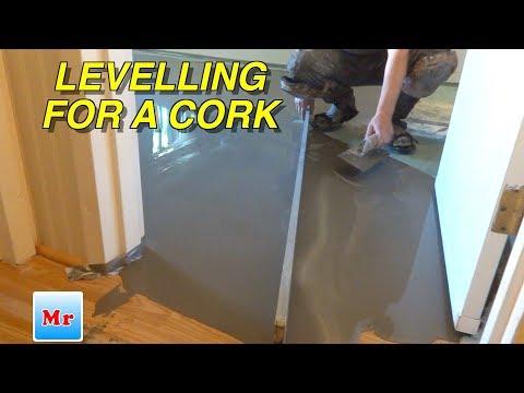How to Make Concrete Subfloor Leveling for Laminate Cork Flooring Installation