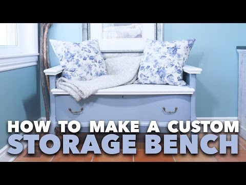 How To Make a Custom Storage Bench