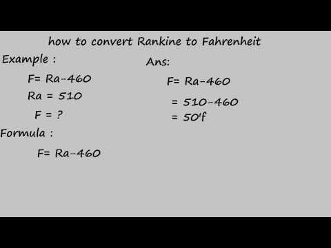 how to convert rankine to fahrenheit - temperature conversion