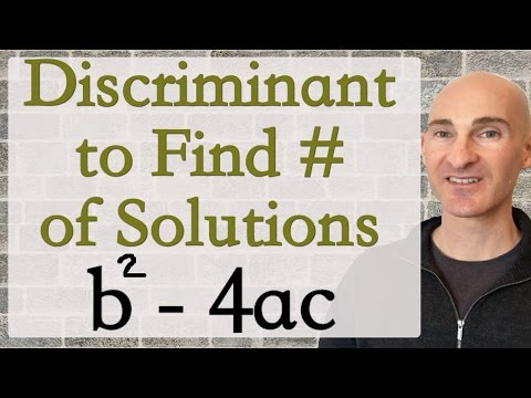 Discriminant to Find Number of Solutions
