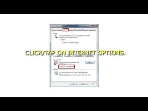 How to Turn On or Off Pop up Blocker in Internet Explorer