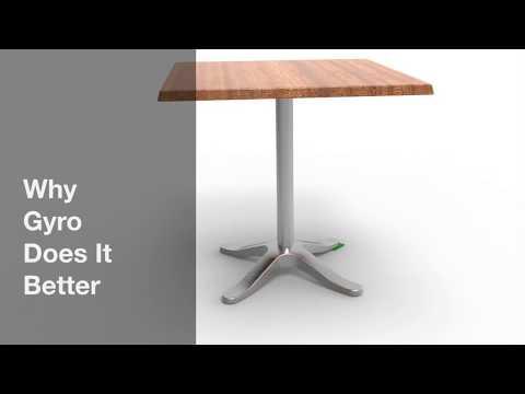 Self-Stabilising Tables for Restaurants