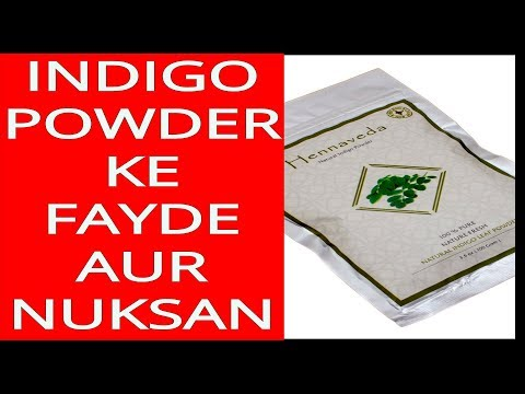 Indigo Powder Ke Fayde Aur Nuksan in Hindi Heena Indigo to Turn White Hair to Black Hair Naturally