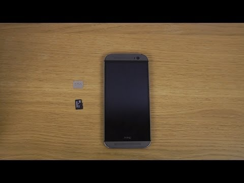 HTC One M8 - How To Insert Micro SD Card