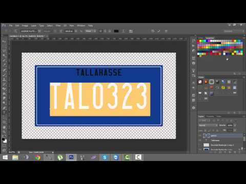 GTA IV Tutorial: How make a licence plate for clan packs | PSD Tutorial