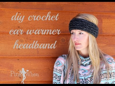 DIY: Crochet Ear Warmer Headband - Under an Hour - with Loom Knitting Video Tutorial