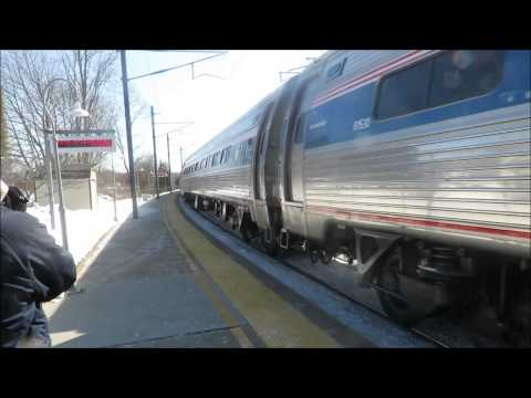 Amtrak: Our train to Penn Station at Mystic