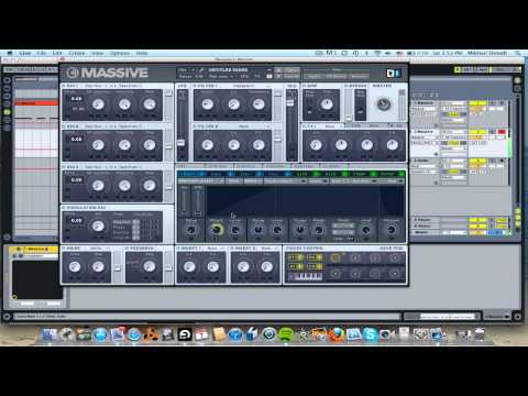 *KNIFE PARTY/SKRILLEX* How To Make A High Pitched Pluck Sound In Massive