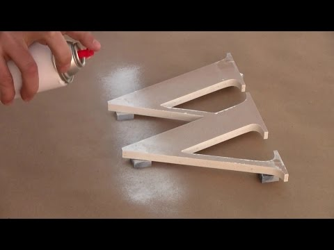How to Spray Paint Outdoor Wooden Letters