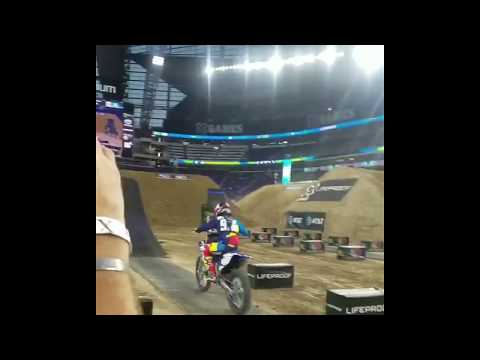 Sick phone vid of Jarryd McNeil throwing a ridiculous whip on a dirt bike