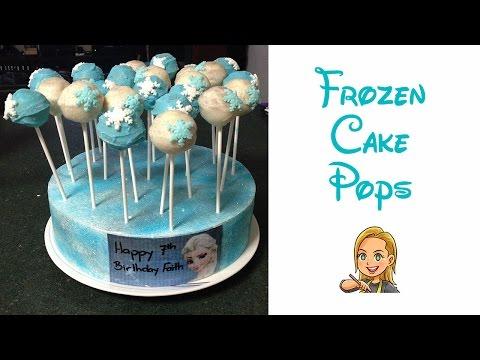 Making Disney Frozen Inspired Cake Pops