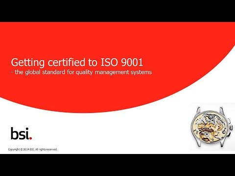 How to get certified to ISO 9001