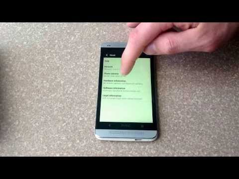 How to check the esn / imei number on a HTC One