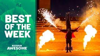 Pyro Acrobats, Ski Flips, Ninja Course & More | Best of the Week