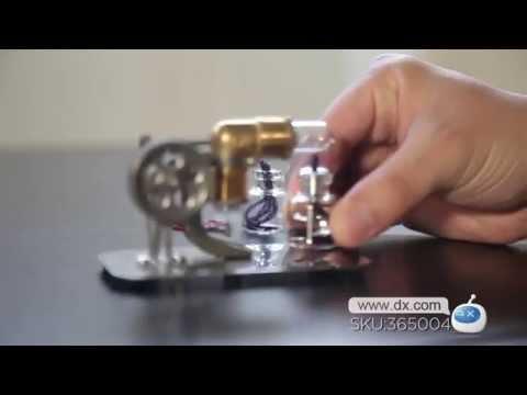 NEJE DIY Mini Hot Air Stirling Engine Motor Model Toy -- DX.COM