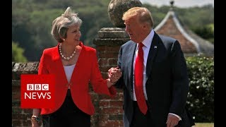 Do Trump and May hold hands every time? - BBC News
