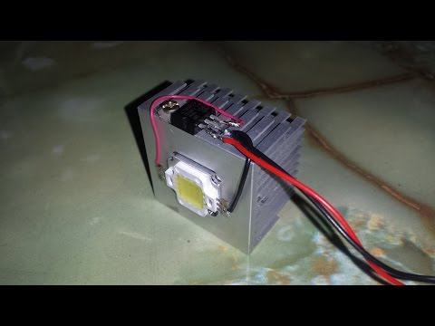 How to make a very cheap & easy 12V 10W LED Light at home