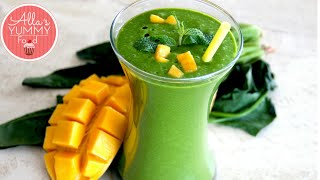 Healthy Breakfast: Day 4: Mango, Banana & Spinach  Smoothie - Losing Weight