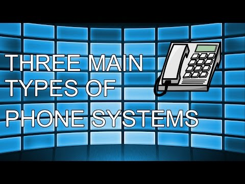 3 Main Types of Phone Systems