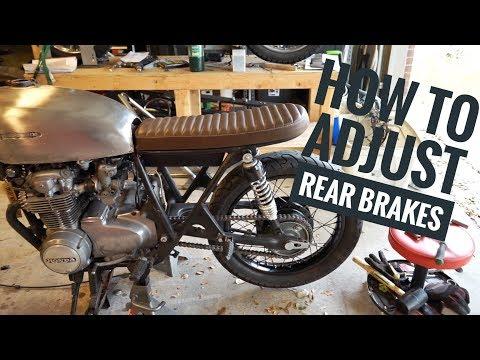 How to adjust motorcycle rear drum brakes