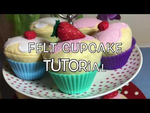 Felt Cupcake Tutorial by Ena Green