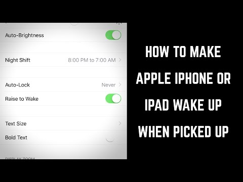 How to Make iPhone or iPad Wake Up When You Pick It Up