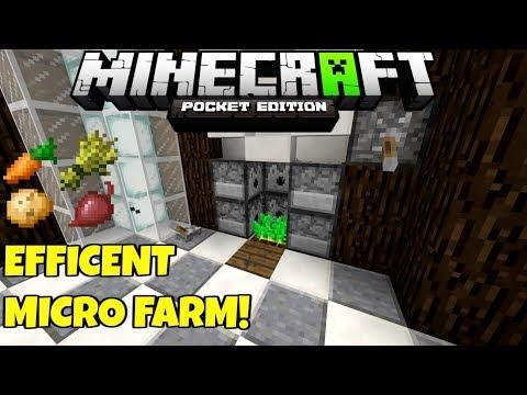 Minecraft Fast Efficient MICRO FARM! Food And Dye! Bedrock Tutorial PE MCPE Xbox