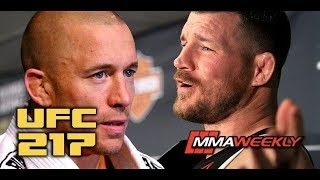 Michael Bisping: Georges St-Pierre is the G.O.A.T.  (UFC 217 Post)