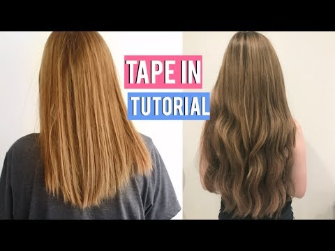 How to Apply Tape In Hair Extensions At Home | ft. Cliphair