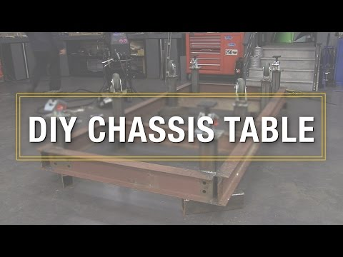 How To Build DIY Chassis Table - Welding It All Together Using the Eastwood MIG 250!