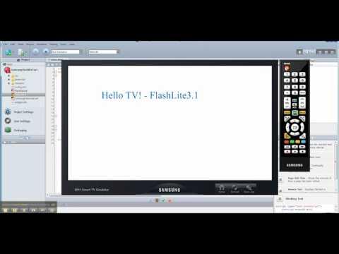 Samsung SmartTV - Developing FlashLite based apps using the Samsung SDK