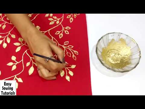 DIY : Golden Painting | Easy Fabric Painting Ideas