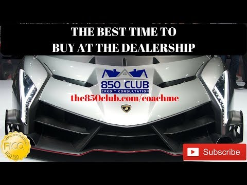 The Best Time To Buy/Finance/Lease A Car At The Dealership -