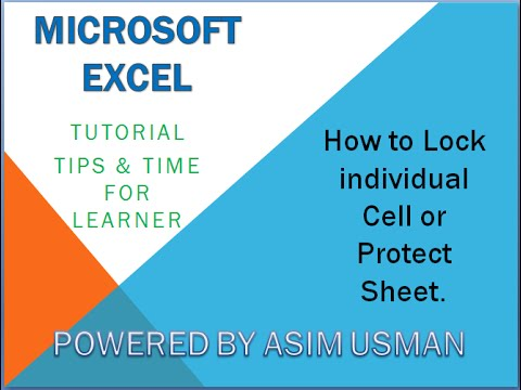 Excel - How To Lock Individual Cells