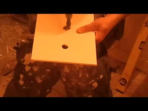 cutting holes in a ceramic tile