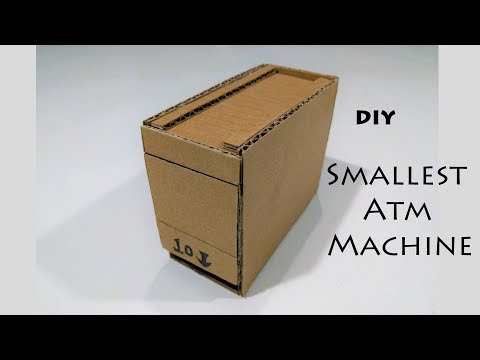 How to make ATM machine From Cardboard DIY smallest ATM machine