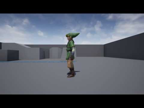 Unreal Engine 4 - The Legend of Zelda: Skyward Sword - Rolling