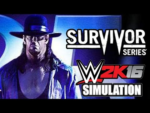 WWE 2K16 (Live on Twitch.TV): Survivor Series 2015 Simulation