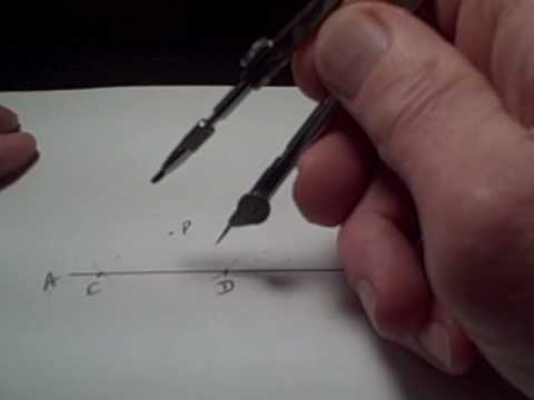 Perpendicular through a Point NOT on a Line