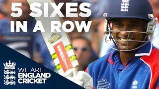 5 Sixes In A Row! Mascarenhas Smashes Yuvraj  | England v India 2007 - Highlights