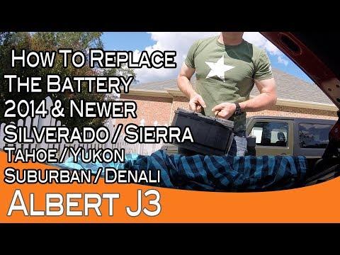 2014+ Silverado / Sierra battery replacement also Tahoe, Yukon, Suburban, and Denali