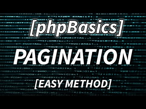 PHP PAGINATION IN 10 MINUTES