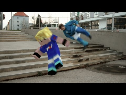 MINECRAFT IN REAL LIFE Animation - INCEPTION (PARKOUR/FIGHT) - FrediSaalAnimations